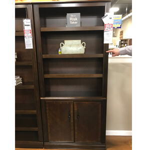 Pastor Bookcase with Storage