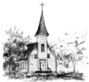 Drawing of Guardian Angels Church in Mead Colorado